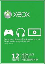 XBox Live 12 Month Gold Membership Card (Serial Only)