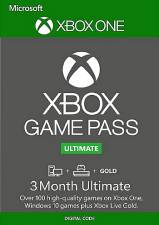 Microsoft Xbox Game Pass 3 Month Xbox Live Gold + Game Pass Ultimate Xbox One/PC (Serial Only)