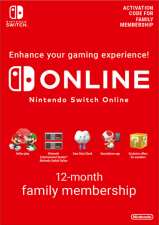 Nintendo Switch Online 12 Month Family Membership (Serial Only)