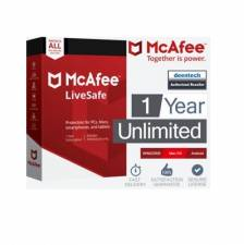 McAfee LiveSafe 2019 (1 Year / Unlimited Devices) (Serial Only)